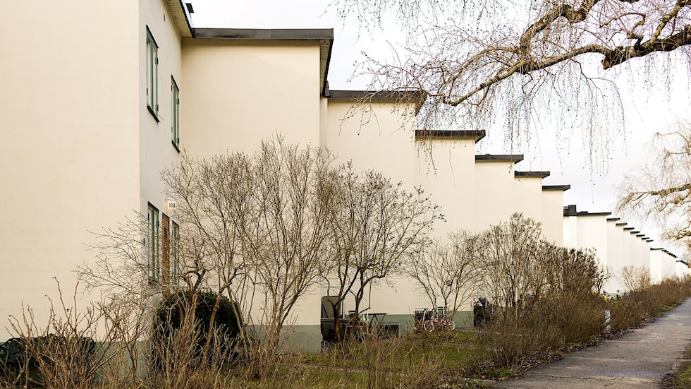 De så kallade Per Albin-husen i Ålsten, Bromma, är K-märkta och ses som exklusiva.