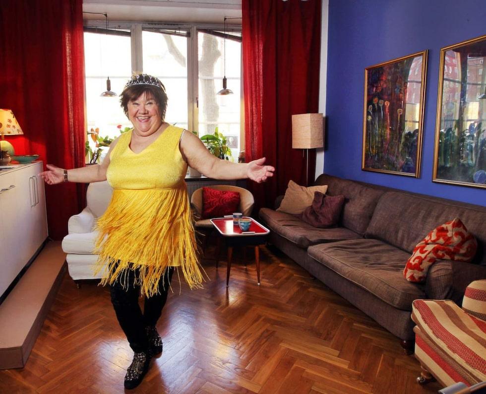 """Ann Westin har bott på samma ställe sedan 1986. """"Min dotter tycker jag har för mycket prylar"""", säger hon."""