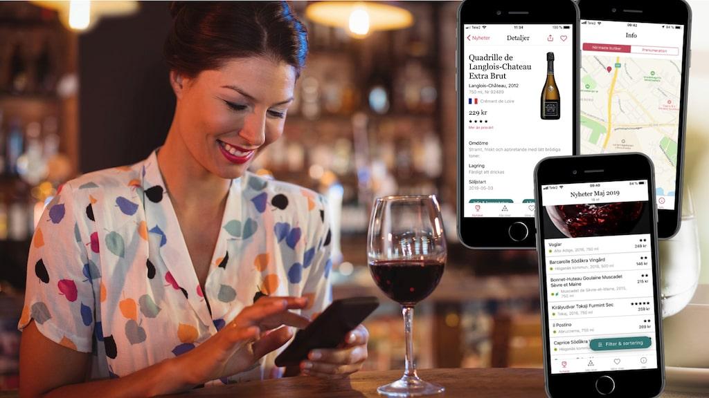 Med Allt om Vins app hittar du lätt ett vin som passar dig bland 1500 recensioner.