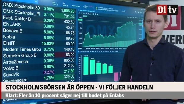 Marknadskoll: Stockholmsbörsen öppnar svagt nedåt – Bonava och Nobia rusar