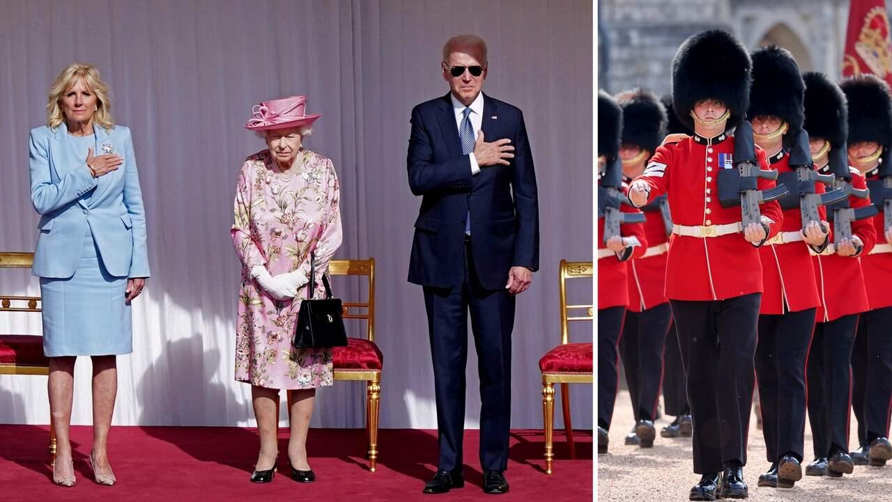 besökte drottning Elizabeth på Windsor Castle för att dricka eftermiddagste