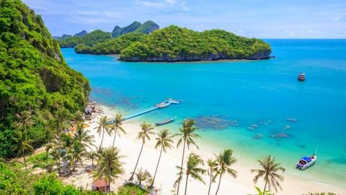 Koh Samui i Thailand har fantastiska stränder.