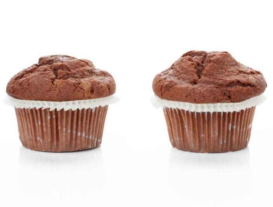 En choklad muffin, 6 tsk.