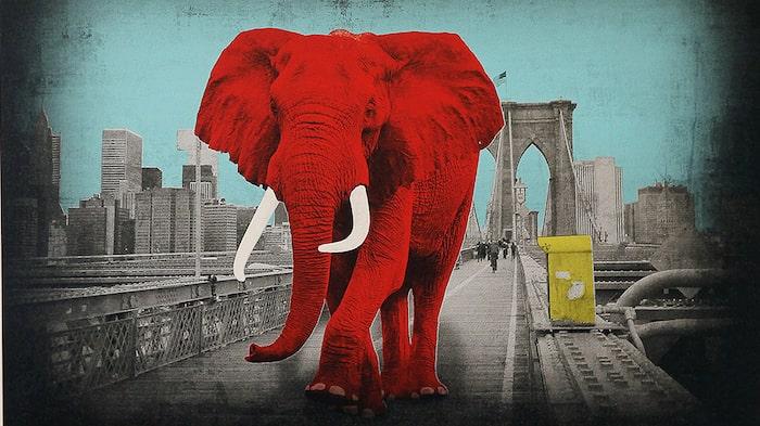 """Tripping on Brooklyn Bridge"" av Lars Tunebo."