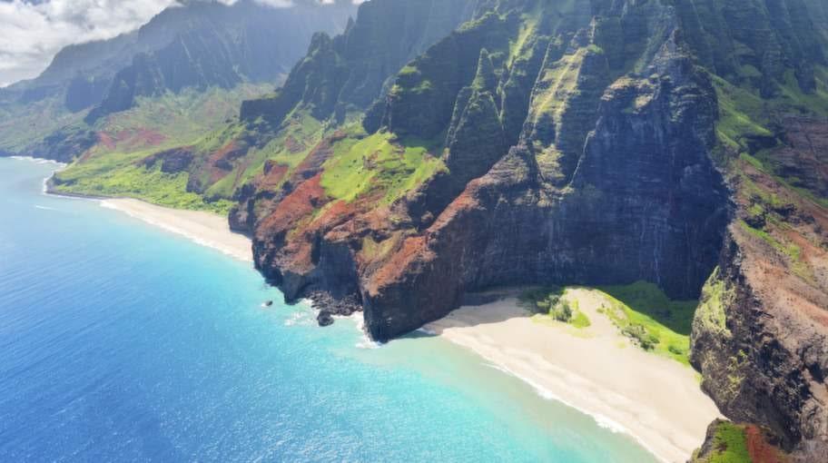 <p>Vissa delar av Kauai på Hawaii kan man bara nå med en helikopter.<br></p>