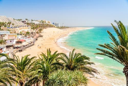 Om familjen gillar att träna är Fuerteventura rätt resmål. Här finns träningshotell och cykelleder.