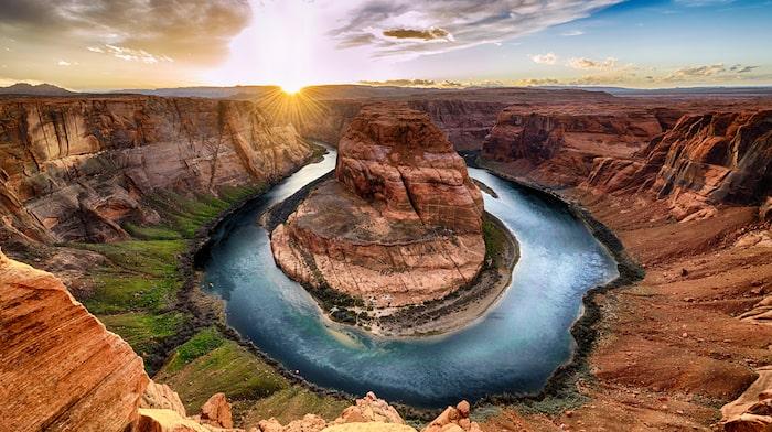 Horseshoe bend i Grand Canyon.
