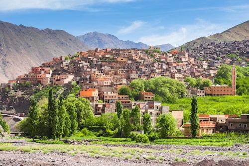 Byn Imlil är populärt bland vandrare som vill gå upp för Marockos högsta berg Toubkal.