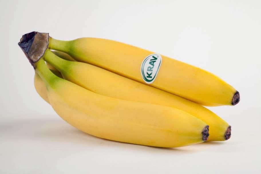 4 BANANER.En   frukt som är hårt  besprutad med  miljöfarliga bekämpningsmedel som   även kan ge dem  som arbetar på  plantagen, och deras barn,  nervskador.