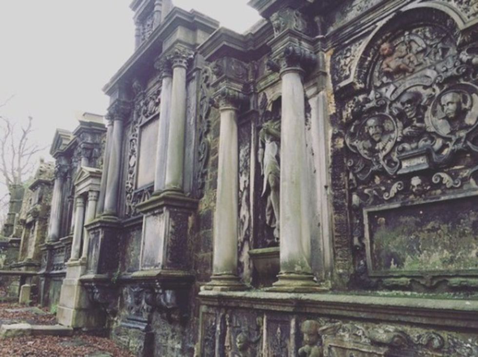 Gråbrödernas kyrkogård i Edinburgh.