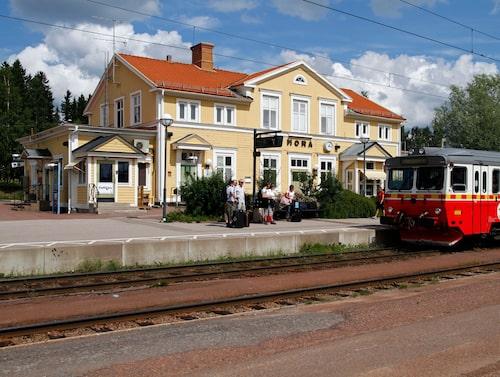 Inlandsbanan – järnvägsstationen i Mora.
