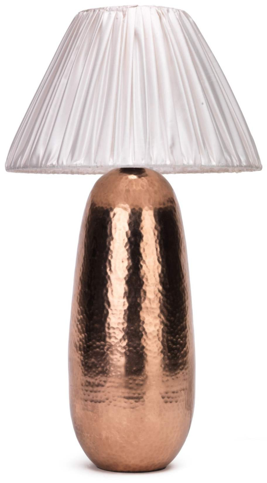5. Koppar. Lampan Dagg, fot av hamrad koppar, tygskärm, höjd 38 centimeter. 999 kronor, EM.