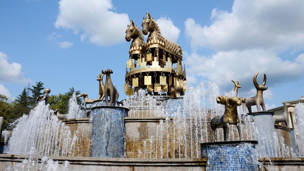 Även Colchis-fontänen är en av Kutaisis mest kända sevärdheter.