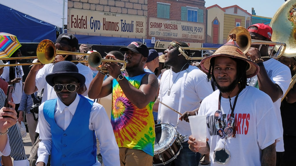 Happy times. Festival season i New Orleans slutar med den stora musikfestivalen Jazzfest.
