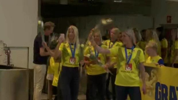 Här anländer bronshjältarna till Sverige