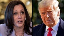 Harris besöker gränsen – dagar före Trump