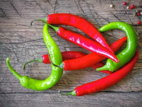 Chili skyddar från åldrande.