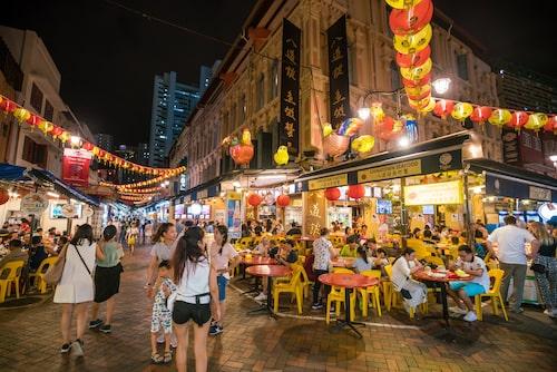 Myllrande Chinatown.
