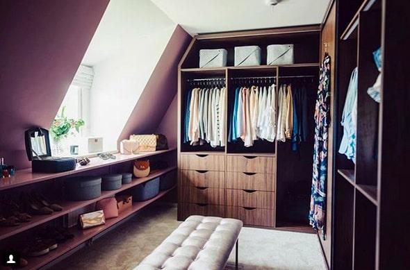 Isabellas Walk in closet är en riktig dröm...