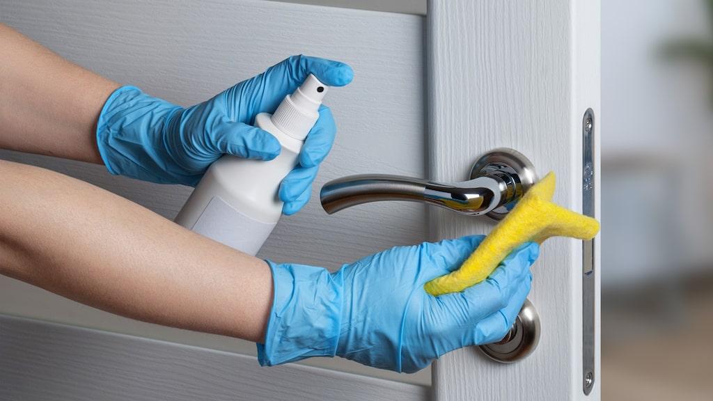 Använd alltid handskar när du utför hushållsarbete.