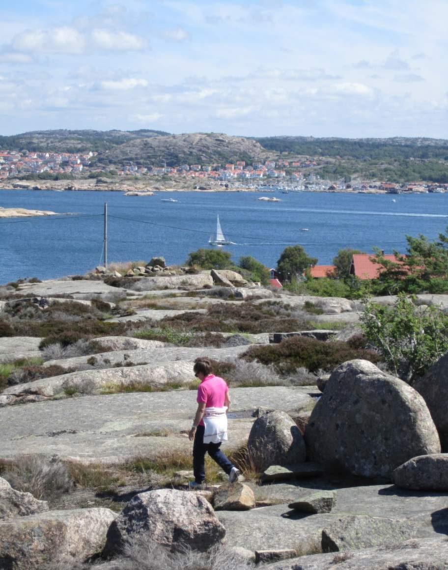 Vandra utan packning i Bohuslän.
