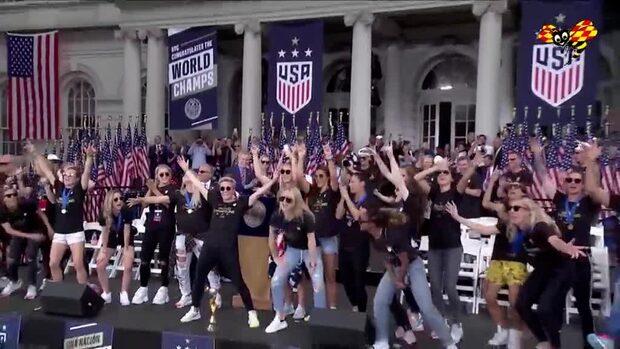 USA:s VM-guldlag hyllas