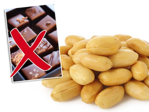 Välj naturella jordnötter iställer för choklad.