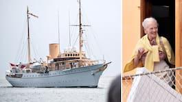 Drottning Margrethe i räddningsinsats till havs