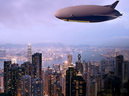 Luftskepp över storstäder kanske blir en vanlig syn om några decennier.