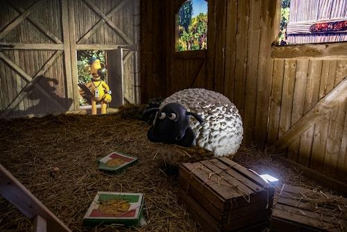 Fåret Shaun-landet är en favorit för de små som ofta drar lång kö.