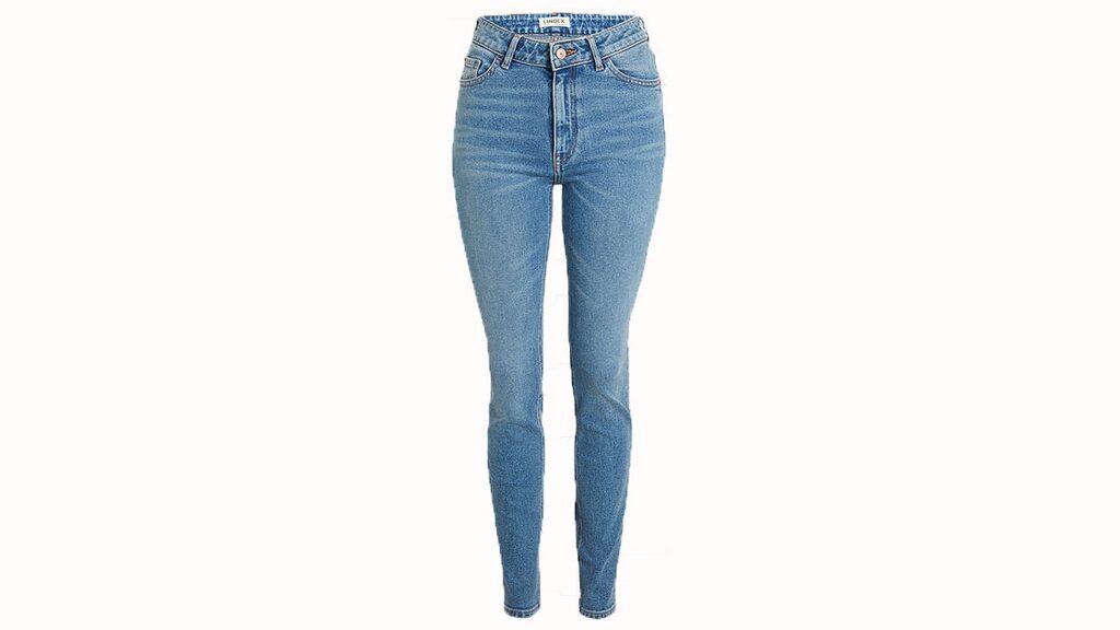Smickrande midja.   Vera skinny high jeans i ljust blå har smickrande hög midja, 399 kronor, Lindex.
