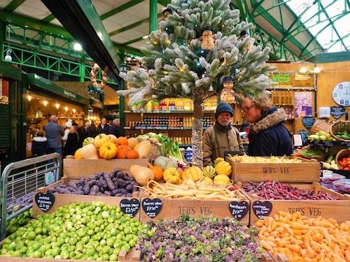 Den bästa julmaten finns på Borough Market.