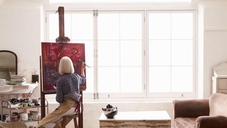 Sjukdomen gjorde att Petronella hittade tillbaka till konsten.