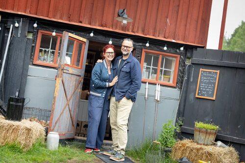 Gårdsbutiken Farmhouse Delsbo drivs av nyinflyttade paret Josefin och Mats Fogelqvist.