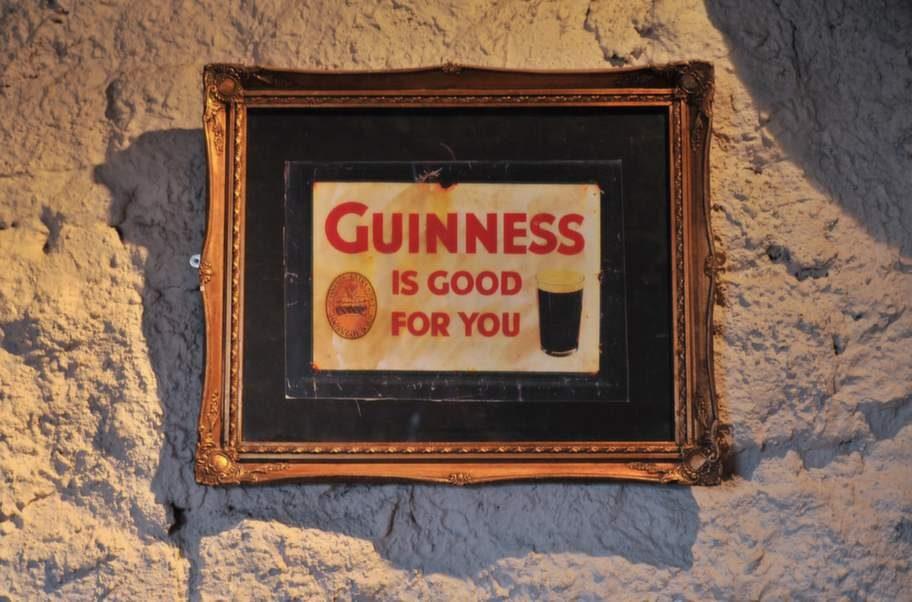 <strong>Ett måste. </strong>Guinness är kultur i Carlingford.