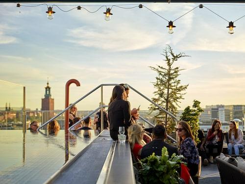 The Nest at Downtown Camper har en pool med utsikt över Stockholm.