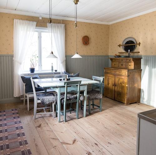 Skurgolv och pärlspont var några av fynden som hittades när köket restaurerades.