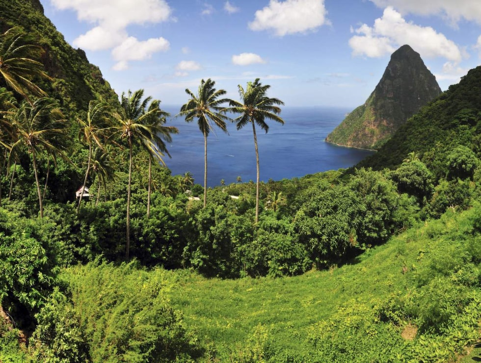 Saint Lucia är både ett eget land och en paradisö. Beläget i Västindien.