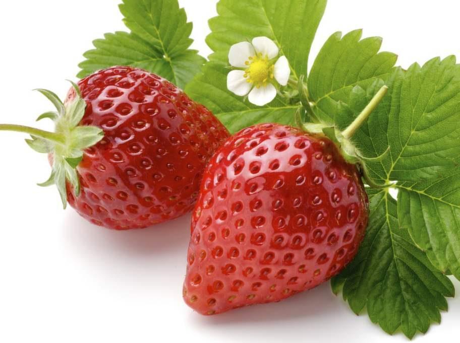 En skål jordgubbar, 2tsk.