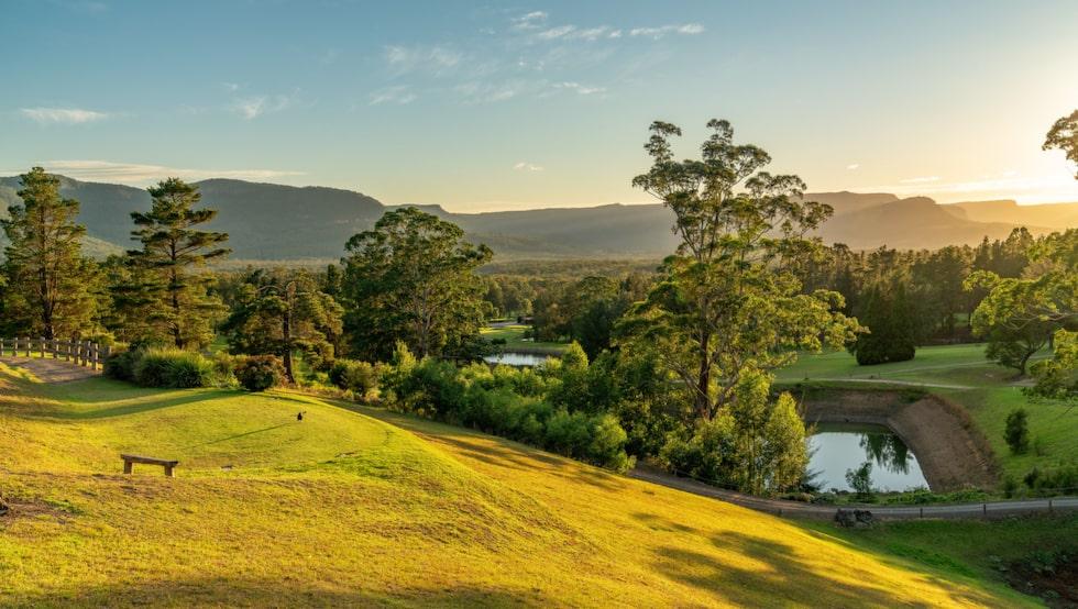 Kangaroo Valley, tre timmar utanför Sydney.