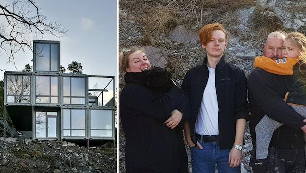 Linda och Thomas har byggt en villa - av åtta gamla containrar