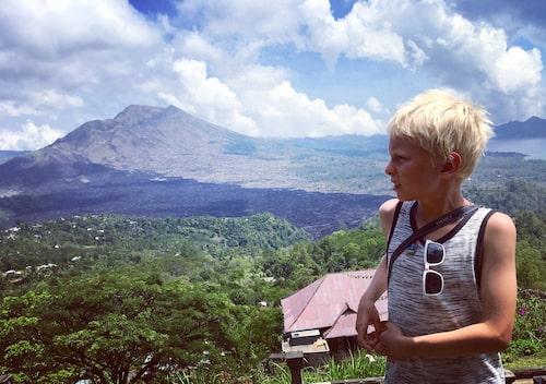 Vulkanen Mount Batur på Bali.