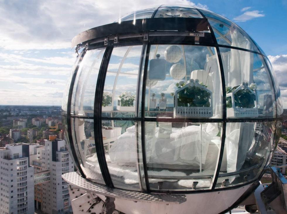 """""""Bubblan"""" på toppen av Ericsson Globe."""