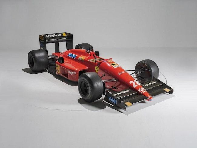Ferrari F187 från 1987 som kördes av Gerard Berger.