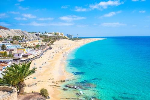 15 mil av underbara sandstränder på Fuerteventura.