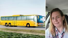 Catherina, 43, stannade sin buss –räddade livet på man