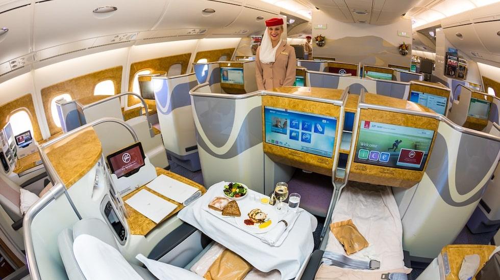 Chans till lågpris i Emirates affärsklass.