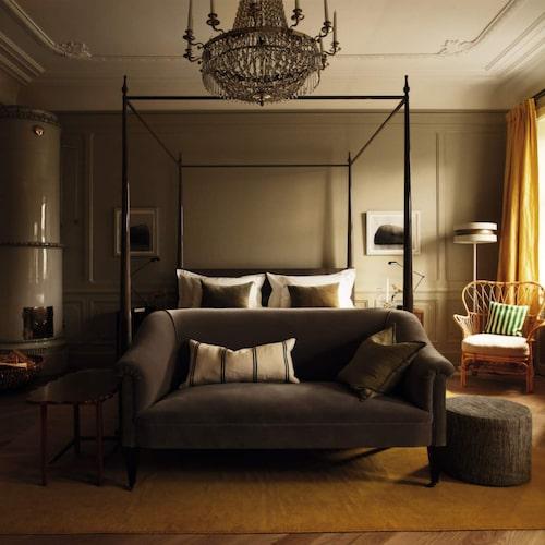 Här finns bara 12 rum, alla mycket stilfullt inredda.