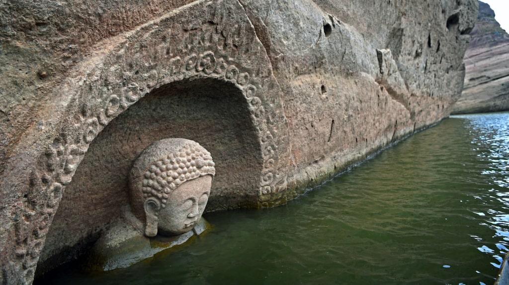 Statyn tros vara 600 år gammal.