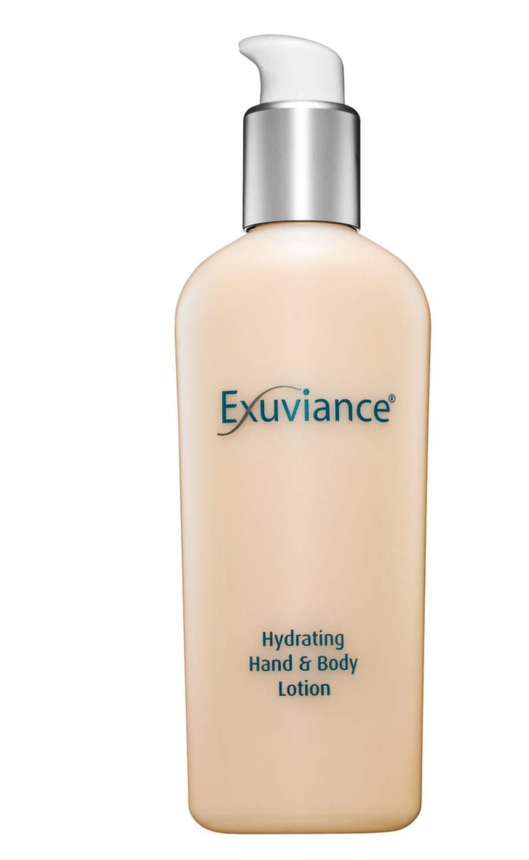 Hand- och kroppslotion från Exuviance med långtidsverkande fukttillförsel. Hydrating hand and body lotion,299 kronor.